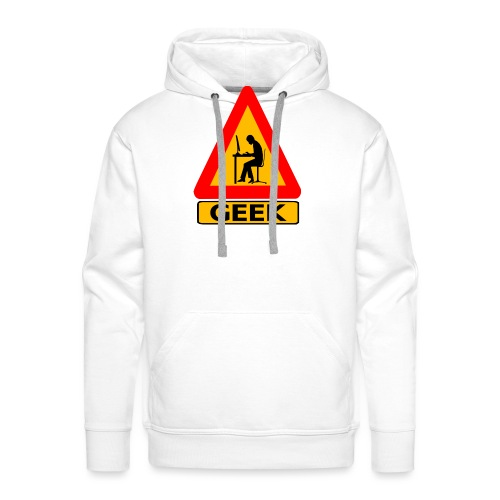 geek_warning - Sweat-shirt à capuche Premium pour hommes