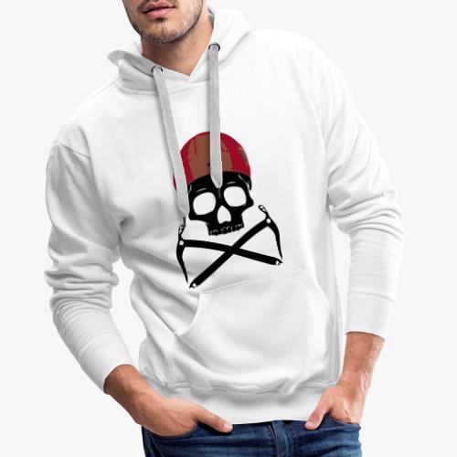 Climber Pirats skull black - Climbing Pirates - Men's Premium Hoodie