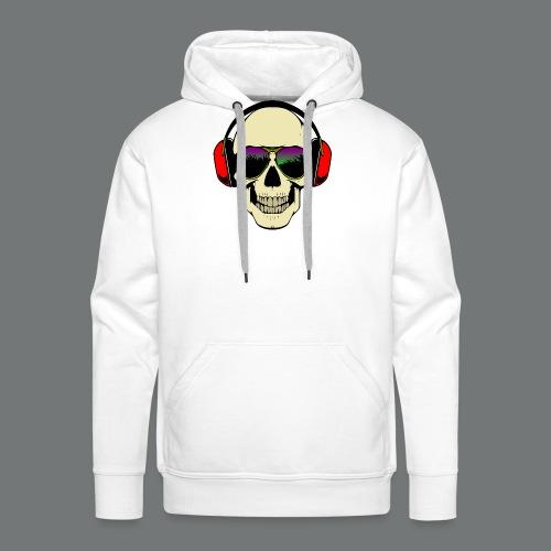 skull dj - Men's Premium Hoodie