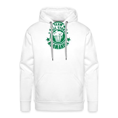 normandie team all star biere alcool 15 - Sweat-shirt à capuche Premium pour hommes