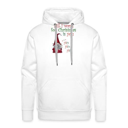 All I want for christmas is you T-Shirt - Sweat-shirt à capuche Premium pour hommes