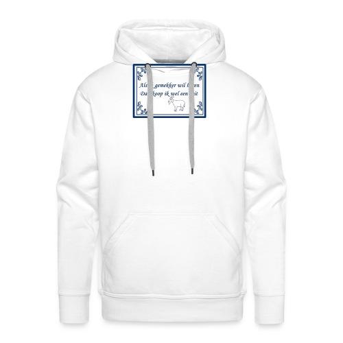 Tegeltje-Geit - Mannen Premium hoodie