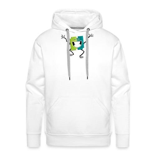 Blij blokje - Mannen Premium hoodie