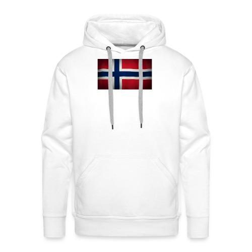 Norsk Flagg - Premium hettegenser for menn