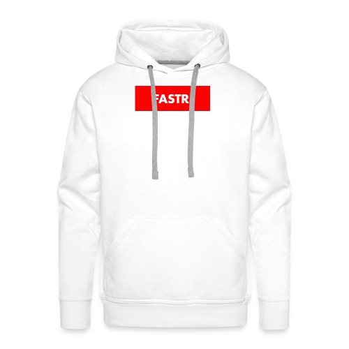 RED BOX TEXT - Mannen Premium hoodie