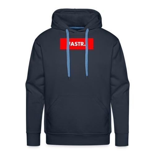 RED BOX TEXT - Mannen Premium hoodie