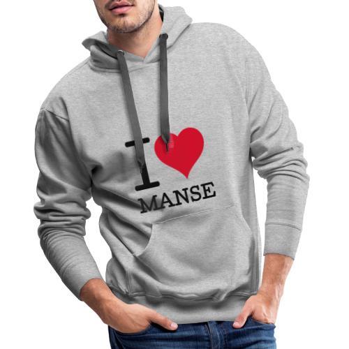 I love Manse - Miesten premium-huppari