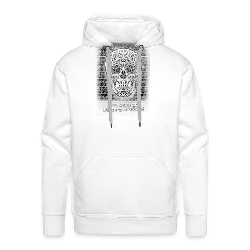 skull black trans 2 jpg - Mannen Premium hoodie