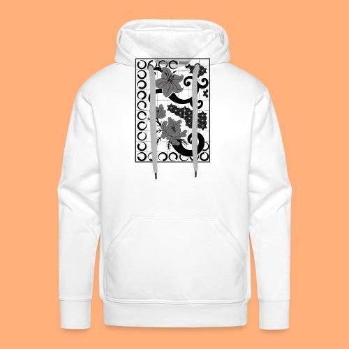 fleurs et graphisme - Sweat-shirt à capuche Premium pour hommes