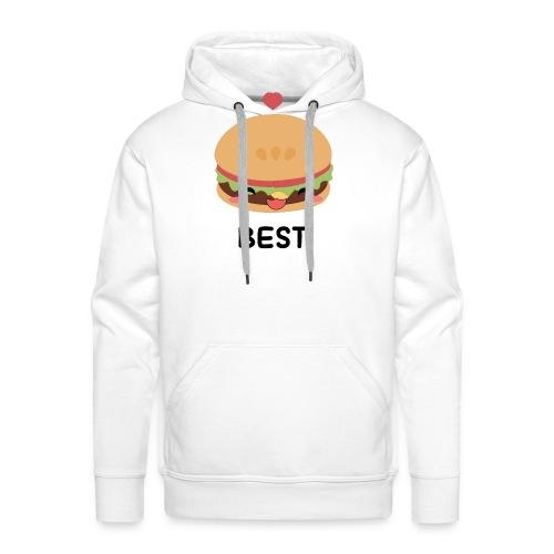 hamburger - Felpa con cappuccio premium da uomo
