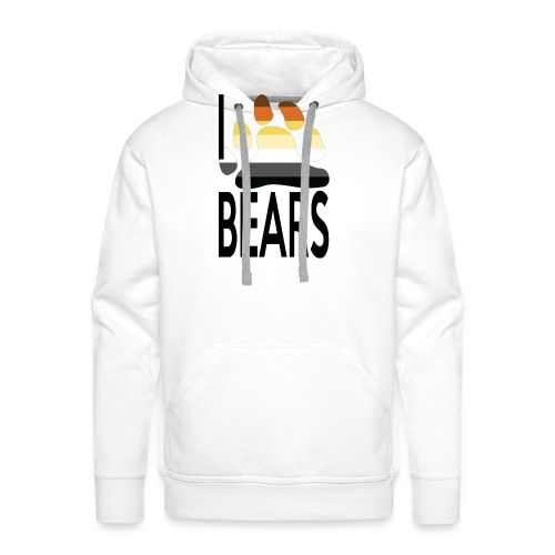 I love bears - Sweat-shirt à capuche Premium pour hommes