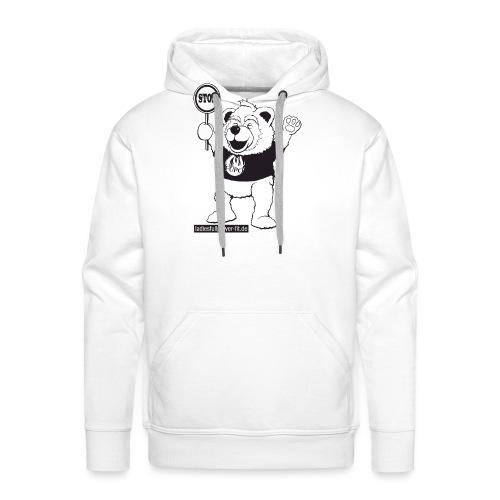 FUPO der Bär. Druckfarbe schwarz - Männer Premium Hoodie