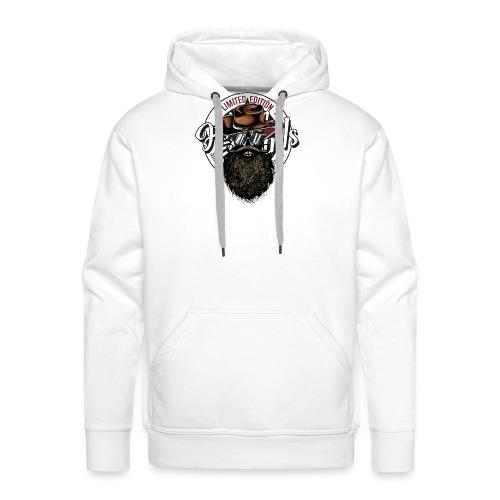 tete de mort crane hipster skull cowboy chapeau - Sweat-shirt à capuche Premium pour hommes