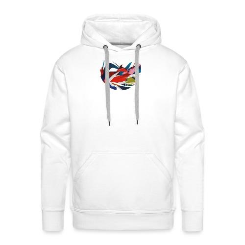 rond graffiti 4000px - Sweat-shirt à capuche Premium pour hommes