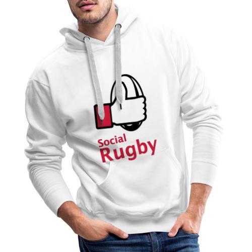 social rugby - Sweat-shirt à capuche Premium pour hommes