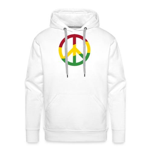 Peacezeichen Rastafari Reggae Musik Frieden Pace - Men's Premium Hoodie