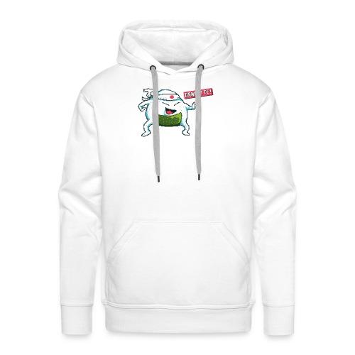Ganbatte Onigiri Character Kawaii Pixel Art - Männer Premium Hoodie