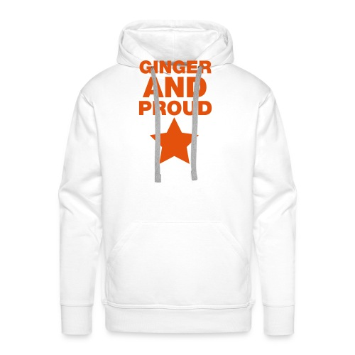 Ginger And Proud Star - Men's Premium Hoodie
