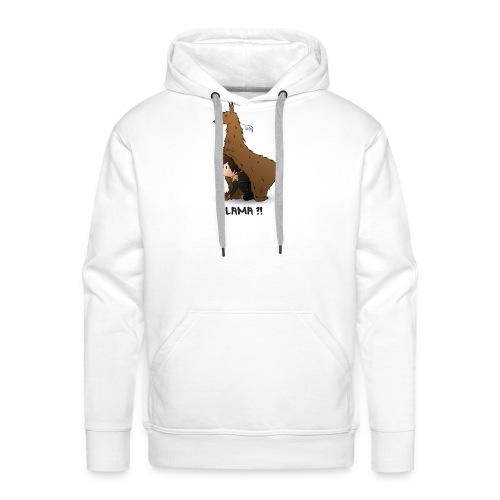 LAMA ?! - Sweat-shirt à capuche Premium pour hommes