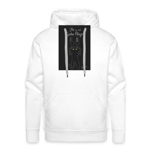 Camiseta gato Negro - Sudadera con capucha premium para hombre