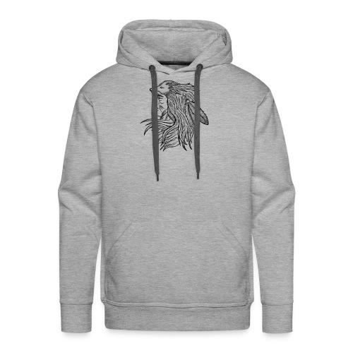 Native American - Felpa con cappuccio premium da uomo