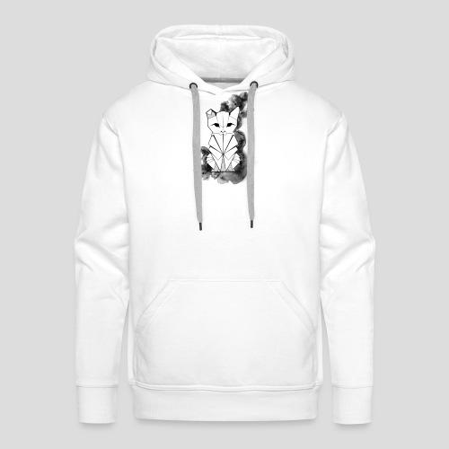 Origami cat Black&White - Sweat-shirt à capuche Premium pour hommes