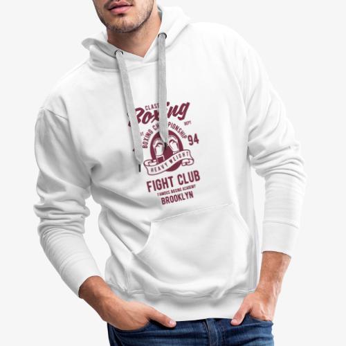 Classic Boxing - Sweat-shirt à capuche Premium pour hommes