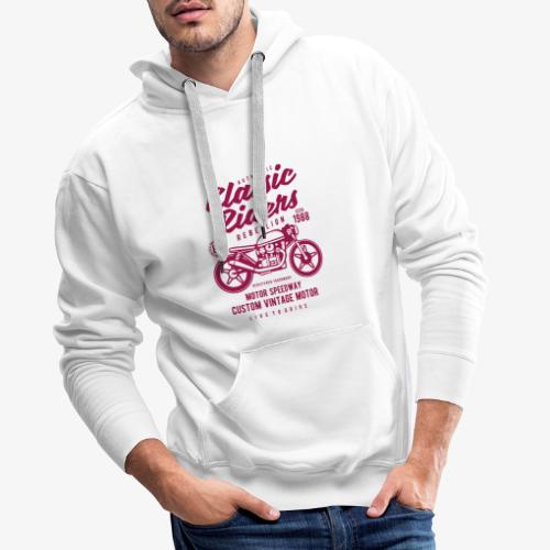 Classic Riders - Sweat-shirt à capuche Premium pour hommes