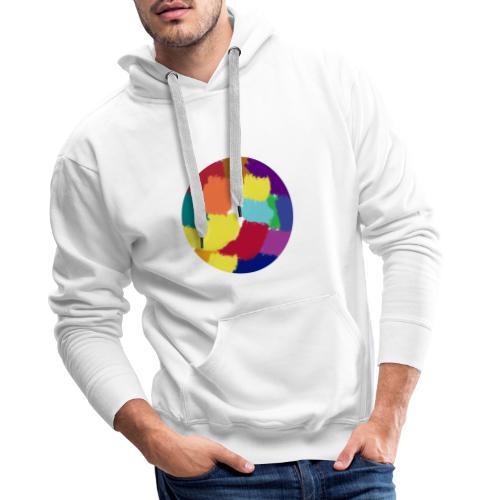 circle color - Felpa con cappuccio premium da uomo
