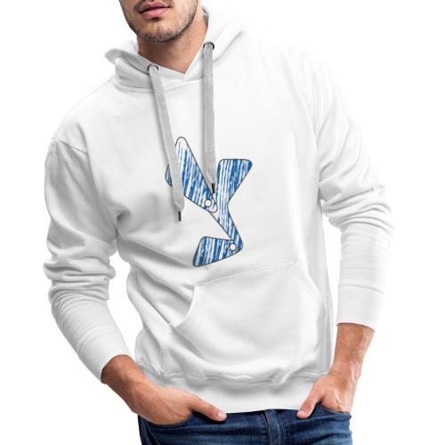 lettera Y blu - Felpa con cappuccio premium da uomo