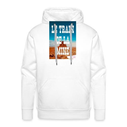 Le Train de La Mine - Sweat-shirt à capuche Premium pour hommes