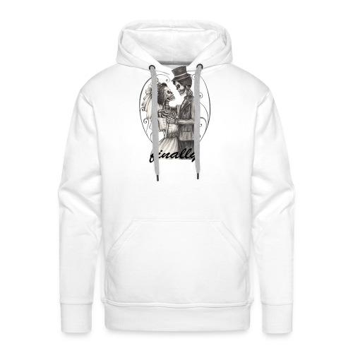 finally mariage T-shirt design - Sweat-shirt à capuche Premium pour hommes
