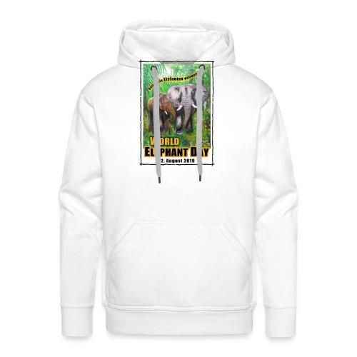 Welt-Elefanten-Tag 12. August 2019 - Männer Premium Hoodie