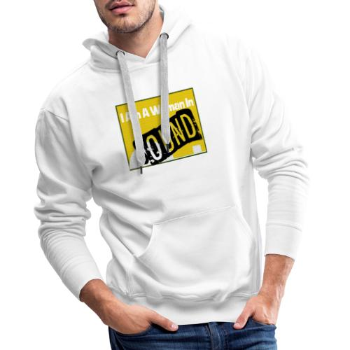 I am a woman in sound - yellow - Men's Premium Hoodie