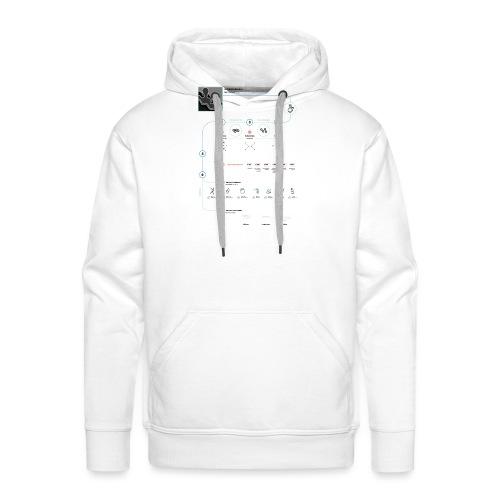 plastic - Sweat-shirt à capuche Premium pour hommes