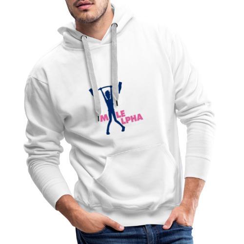 Male Alpha - Sweat-shirt à capuche Premium pour hommes