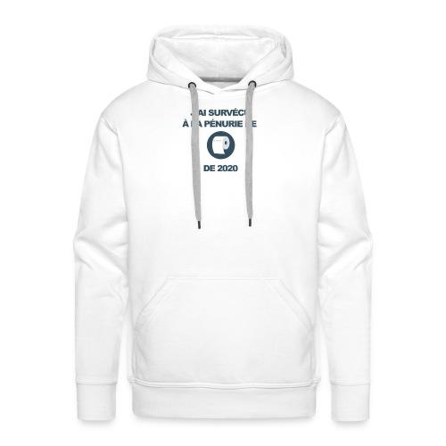 CoronaviruJ'ai survécu à la pénurie de PQ de 2020 - Sweat-shirt à capuche Premium pour hommes