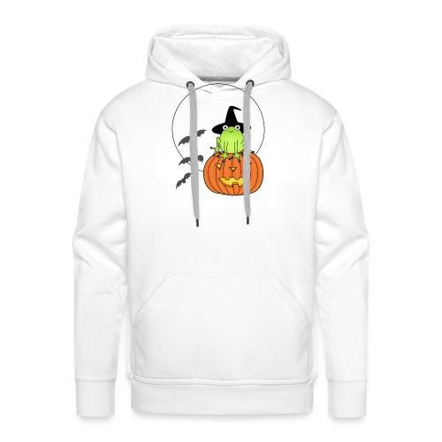frog on pumpkin - Men's Premium Hoodie