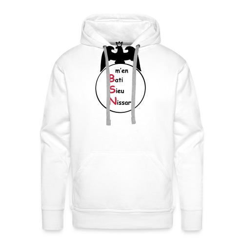 bsn - Sweat-shirt à capuche Premium pour hommes