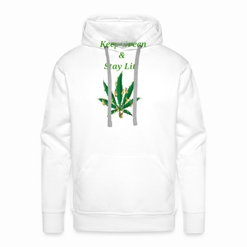 Keep green And Stay lit - Men's Premium Hoodie