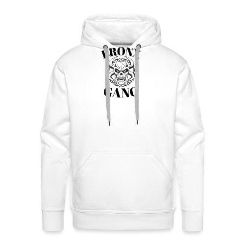 bronx gang skull new-york - Sweat-shirt à capuche Premium pour hommes