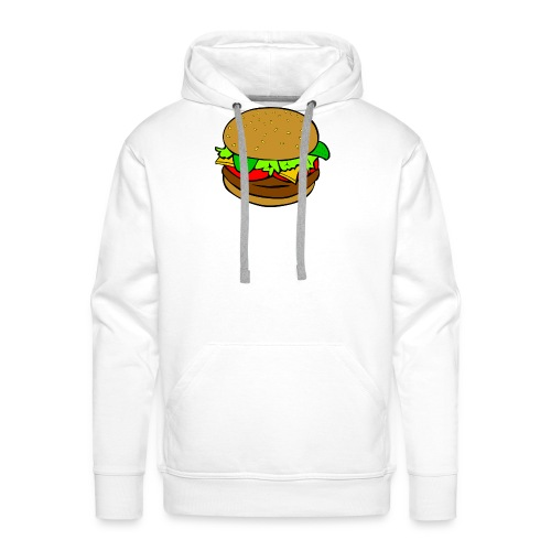 Hamburger motiv - Premiumluvtröja herr