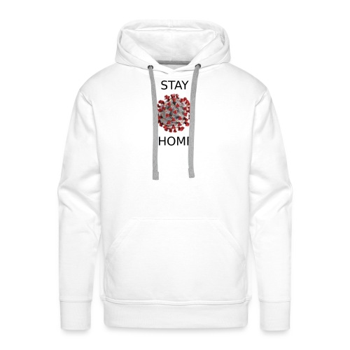 Stay home covid - Sweat-shirt à capuche Premium pour hommes