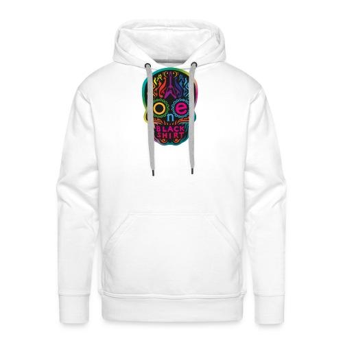 OBS Skull rainbow gif - Männer Premium Hoodie