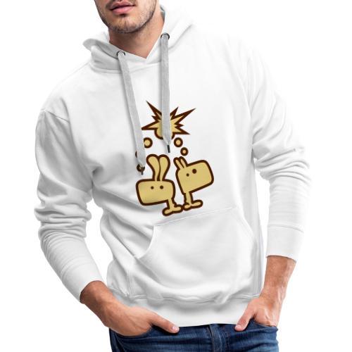 Brainstorm Brothers Hase Bunny Gedankenblitz - Männer Premium Hoodie