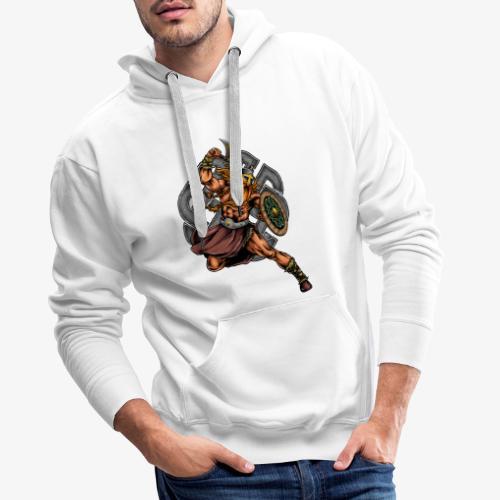 Guerrier viking - Sweat-shirt à capuche Premium pour hommes
