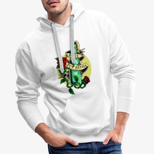 Bouteille d'alcool - Sweat-shirt à capuche Premium pour hommes