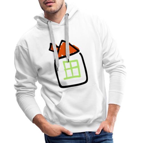 House Line Drawing Pixellamb - Männer Premium Hoodie