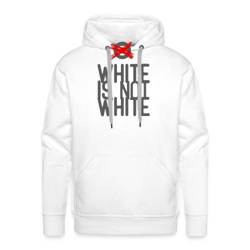 white not - Bluza męska Premium z kapturem