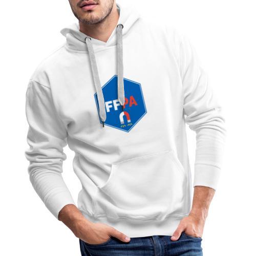 Logo de la fédé française de pêche à l'aimant - Sweat-shirt à capuche Premium pour hommes
